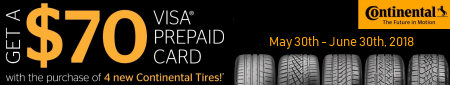 Continental Tire Rebate Promotion Spring 2018