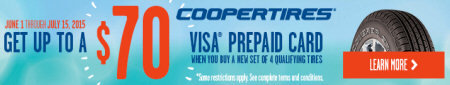 Cooper Tire Spring Event Promotion 2015
