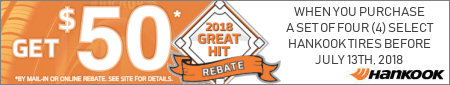 Hankook Tire Great Hit Promotion 2018