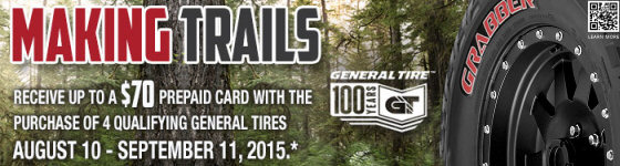 General Tire Making Trails Promotion 2015