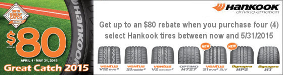 Hankook 2015 Great Catch Promotion
